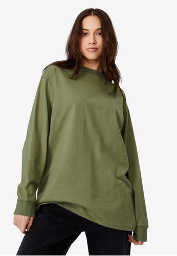 Cotton On green Basic Oversized Long Sleeve Top 1F040AAFD245E8GS_1