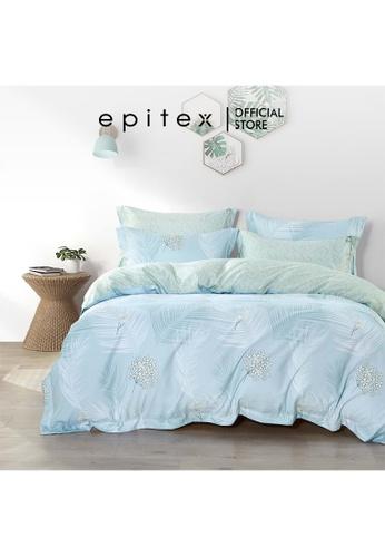 Epitex Epitex Hybrid Botanic Silk 1000TC Printed Bedsheet - Fitted Sheet Set - w/o quilt cover 1A696HL03BDFF6GS_1