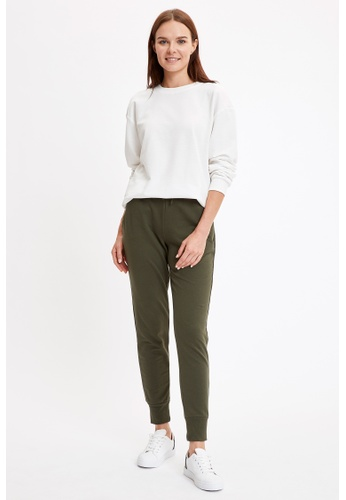 DeFacto green Woman Knitted Trousers 19E11AA61DFE7EGS_1