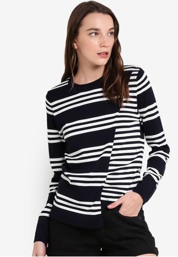 條紋裹式長袖衫, 服飾, esprit 台中外套