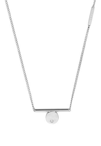Esprit silver ESPRIT [Bond] Silver Stainless Steel Necklace (42 cm + 3 cm) 6DCA9AC4B38649GS_1