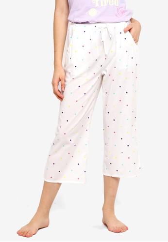 Supre white and multi Cotton 3/4 Sleep Pants B6AA8AA8023F77GS_1