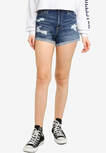 Hollister blue Curvy Shorts 62044AACEE117FGS_1