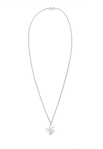 ELLI GERMANY white Heart Zirconia Talisman Symbol Necklace C8935AC3FCDC14GS_1
