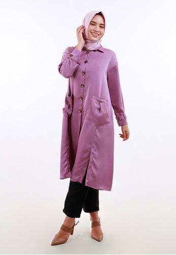QUEENSLAND purple Tunik Muslim Wanita Lengan Panjang A04042Q Ungu 47420AA7FA89A7GS_1
