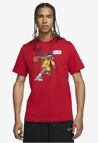 Nike red Men's Kyrie Manga Logo Tee 98BE8AA83B6DBFGS_1