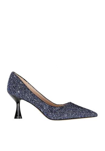 Twenty Eight Shoes 海軍藍色 雙色閃片晚裝及新娘鞋 VP12662 50938SHD06C30EGS_1