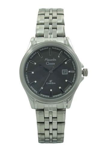 Alexandre Christie silver Alexandre Christie Jam Tangan Wanita - Silver Black - Stainless Steel - 8402 LDBSSBA AL709AC97HTYID_1