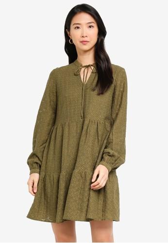 Vero Moda green Henny Lace Tunic 3CF36AA3EBED27GS_1