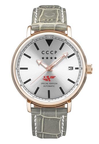 CCCP grey CCCP Men's Grey Genuine Leather Strap Watch - CP-7020-04 AB66FAC798206EGS_1