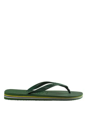 Havaianas green Brasil Flip Flops HA021SH82JRDPH_1