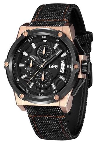 Lee Watches brown Lee Watch M100DBV1-1R Jam Tangan Pria Lee Metropolitan Collection Denim Strap LE151AC0VQYZID_1