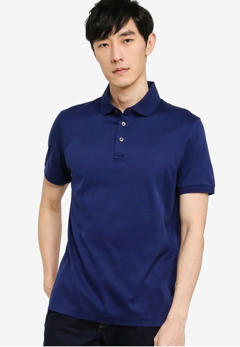 BOSS navy T-Perry 14 Polo Shirt 306C7AAF7FB749GS_1