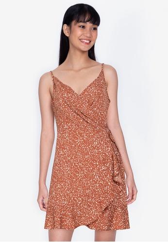 ZALORA BASICS 多色 Cami Wrap Dress 6186AAAD641434GS_1
