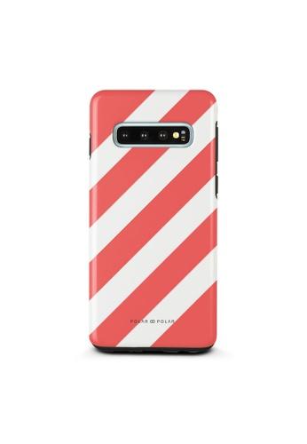 Polar Polar red Scarlet Slash Dual-Layer Tough Case Glossy For Samsung Galaxy S10 9C2F6AC51344F5GS_1