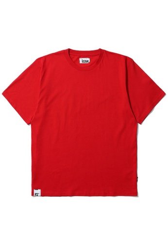 izzue red Graphic print tee 76F8DAA9975907GS_1