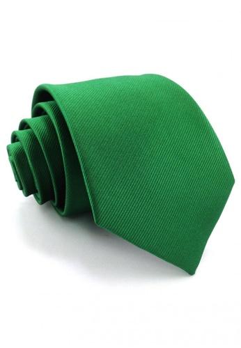 Tieline green Standard Microfiber Solid Textured Necktie TI886AC87UOMPH_1
