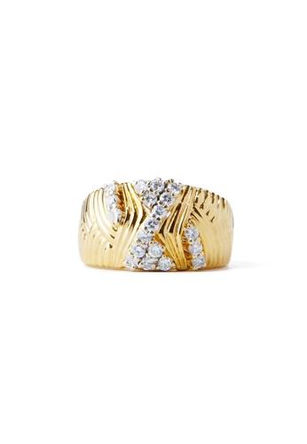 CEBUANA LHUILLIER JEWELRY gold 18 Karat Yellow Gold Lady Ring With Diamonds 99F76ACD183C4DGS_1