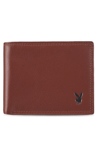 Playboy brown Playboy Genuine Leather Wallet 42AEFACE70866FGS_1