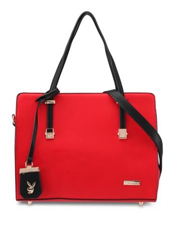 PLAYBOY BUNNY red Playboy Bunny Shoulder Bag PL604AC0SMLSMY_1