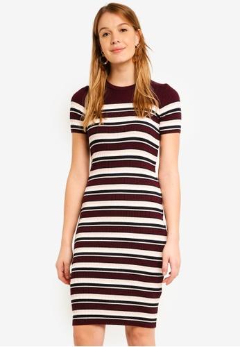 fdf4cc21268 Dorothy Perkins red Burgundy Stripe Dress ACE9BAA14D5421GS 1