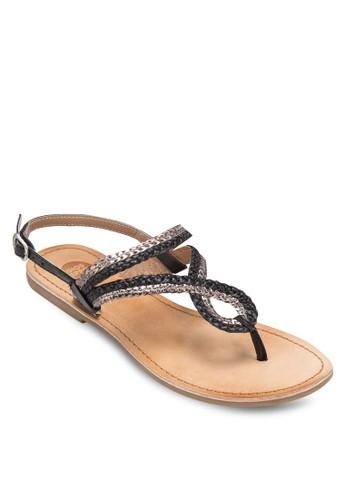 Veronnes 編織繞踝涼鞋, 女鞋尖沙咀 esprit outlet, 鞋