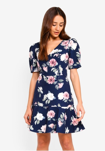 Forever New multi Kelsey Print Flippy Dress 52FD5AAA7D23DFGS_1