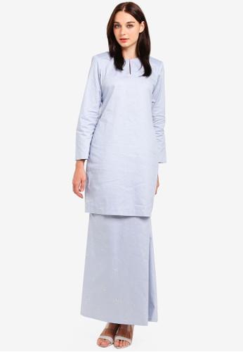 Butik Sireh Pinang blue Maissa Modern Kurung 4DD7CAAB4B2651GS_1