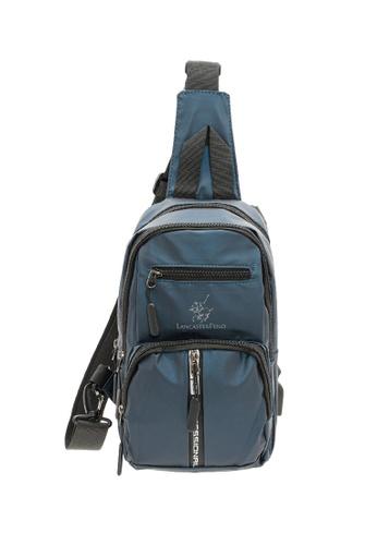 LancasterPolo blue LancasterPolo Nylon Waterproof Multi Function Shoulder Crossbody Chest bag 8FCDCAC5755FFFGS_1