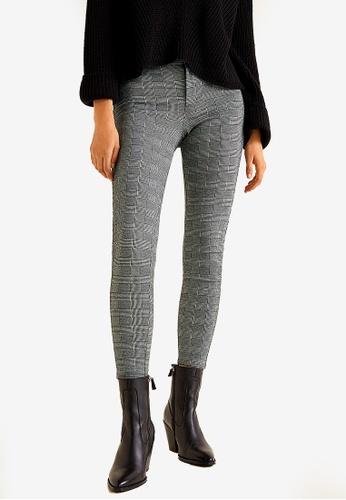 Mango grey Checks Print Leggings 99446AA539E14FGS_1