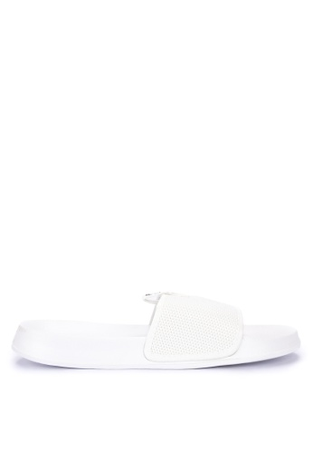 Penshoppe white Rubber Sliders 3056CSH608175EGS_1