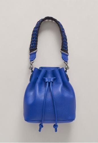 Bottletop blue Bottletop® Alysse Mini Electric Blue Shoulder Bag / Backpack DC285ACAA15262GS_1
