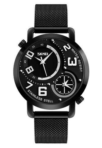 112ab33d3b5 Skmei Dualtime - Jam Tangan Pria - Black - Stainless Steel - 9168-1
