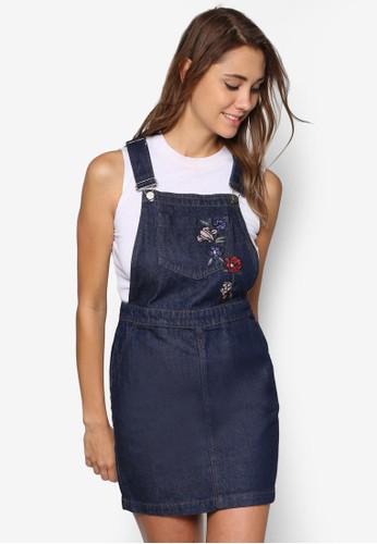 繡花吊帶連身裙、 服飾、 洋裝DorothyPerkins繡花吊帶連身裙最新折價