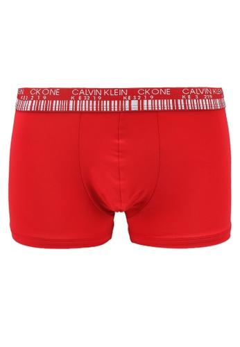 Calvin Klein red One Jacquard Low Rise Trunks - Calvin Klein Underwear 30836US6256DB2GS_1