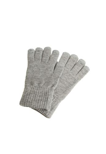 MANGO Man grey Touchscreen Knitted Gloves DC685AC229EC01GS_1