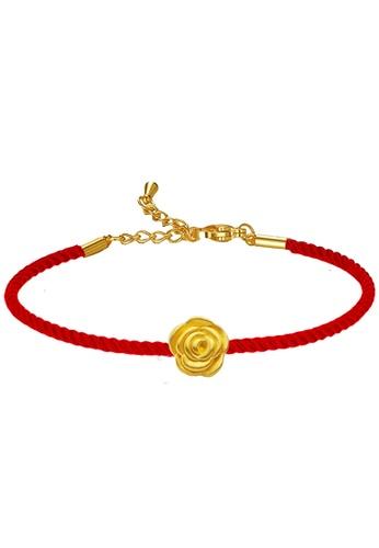 LITZ gold [SPECIAL] LITZ 999 (24K) Gold Rose Charm With Bracelet 玫瑰手绳 EPC0916-B-R (0.09g+/-) DE1C7AC0AE8671GS_1