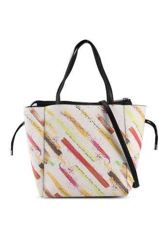 Desigual yellow 2-In-1 Arty Shopper Bag 1F496AC657F1C2GS_1