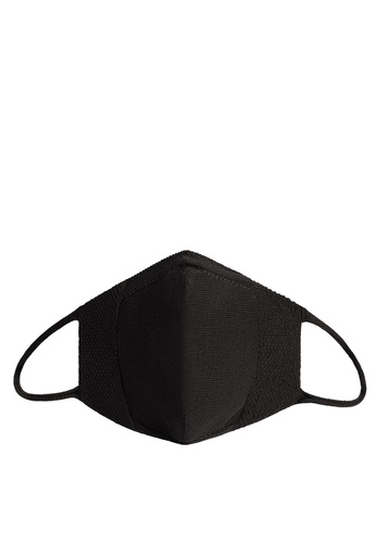Mango black Reusable Homologated Knit Facemask 308E7ES58B0F1EGS_1