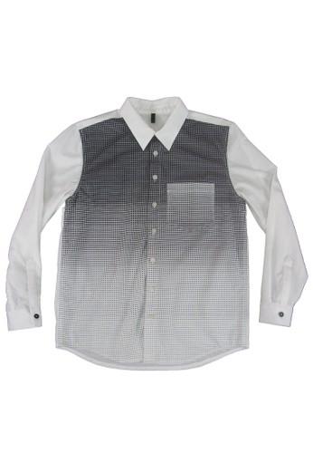 漸層格esprit台北門市印花襯衫, 服飾, 印花襯衫