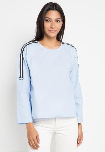 Logo Jeans blue and multi Terra Shirt 09969AA641892CGS_1
