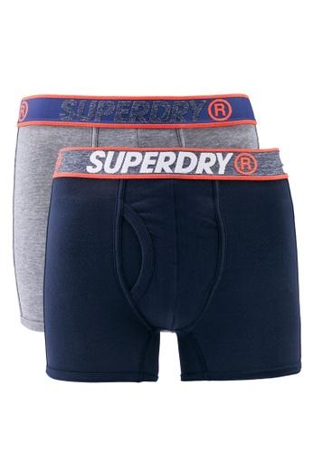 SUPERDRY navy Superdry Sport Double Boxer 01E2FUS2223473GS_1