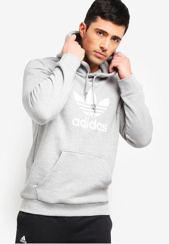 adidas 灰色 adidas originals trefoil 帽T A6B43AAC54F145GS_1