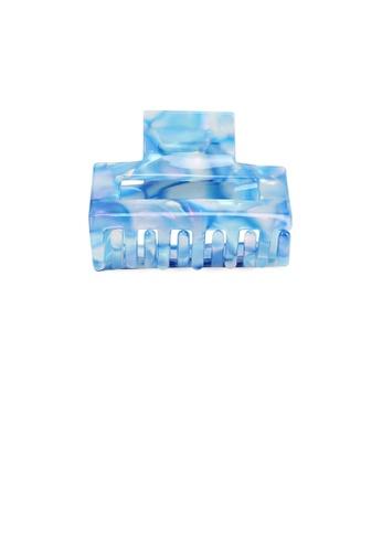 Glamorousky blue Simple Fashion Blue Pattern Geometric Hair Claw 85834ACC3BF57CGS_1