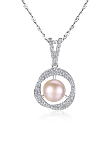A.Excellence pink Premium Pink Pearl Elegant Necklace C83D1ACF942BB0GS_1