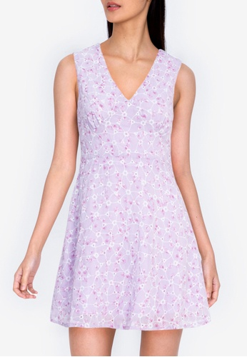 ZALORA BASICS multi Sleeveless V-Neck Mini Dress 12375AAE92990EGS_1
