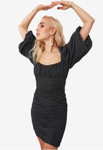 Trendyol multi Balloon Sleeve Ruched Dress FF29EAAD0D4283GS_1