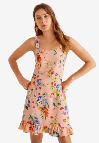 Mango 粉紅色 Short Ruffled Dress 15A9EAAAC4B2A5GS_1