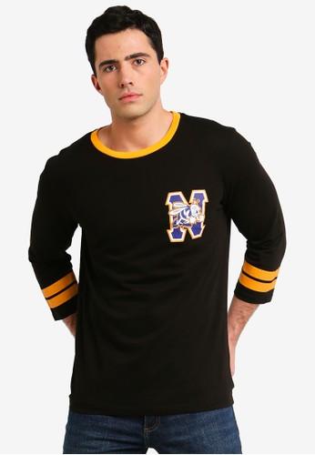 Cotton On black Tbar 3/4 Baseball Tee 3C349AA424BA77GS_1