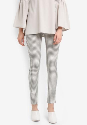Zariya multi Check Print Long Pants D64A5AA8391086GS_1